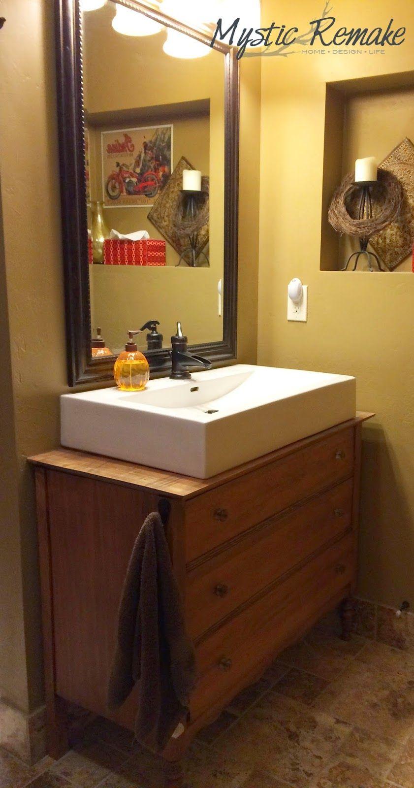 Upcycled Dresser Vanity Bathroom Sink