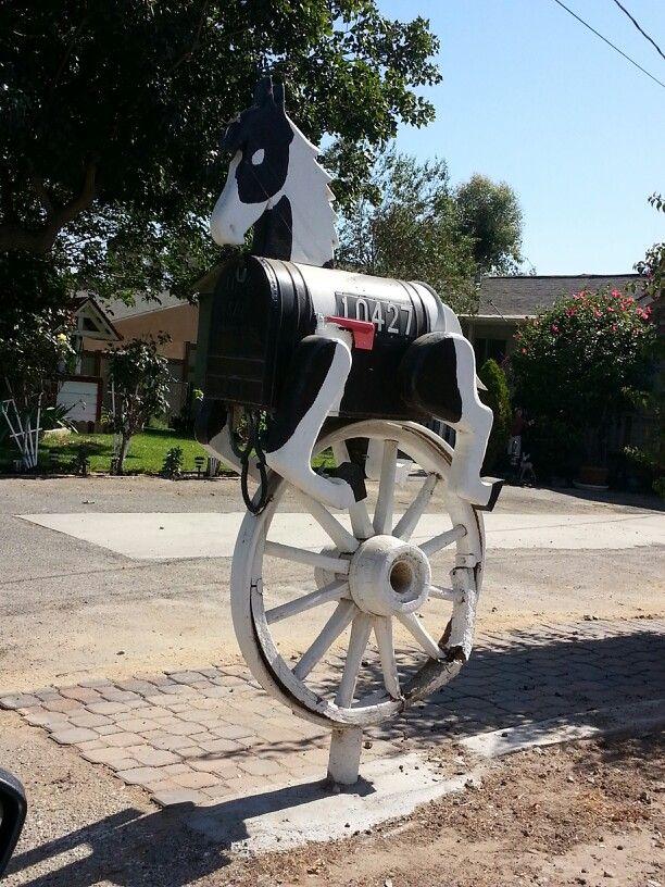 Mailbox horse