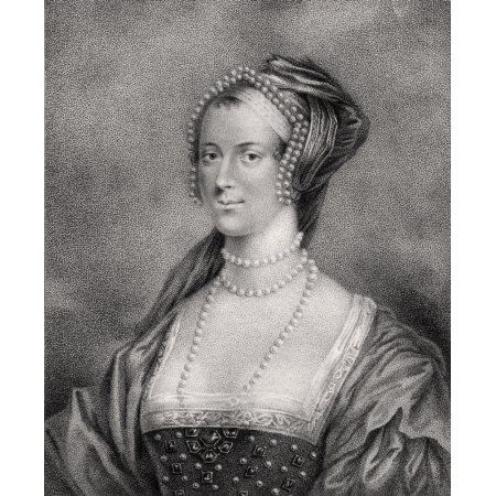 Anne Boleyn Also Spelled Bullen 1507-1536 Second Wife Of Henry Viii Engraved By Bocquet From The Book A Catalogue Of The Royal And Noble Authors Published 1806 Canvas Art - Ken Welsh Design Pics (13
