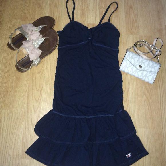 3d61405bb1c Hollister tube dress hollister navy blue spaghetti strap dress new  condition worn once jpg 580x580 Hollister
