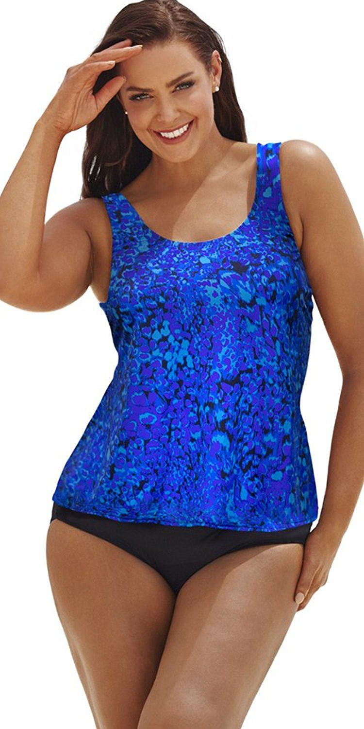 998bec1d00 Beach Belle Women's Cerulean Classic Tankini >>> Don't get left behind, see  this great product : Plus size swimwear