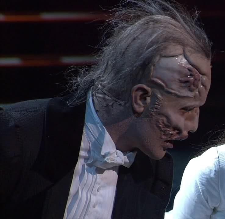 Ramin Karimloo. The Phantom's make-up. The Phantom of the Opera 25th Anniversary.