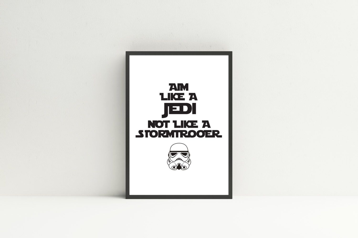 inspirational design star wars wall. Printable Star Wars Quote  Aim Like A Jedi Not Stormtrooper Bathroom Decor Humor Funny Potty Training