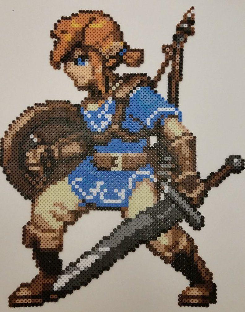 Legend Of Zelda Breath Of The Wild Link Perler By