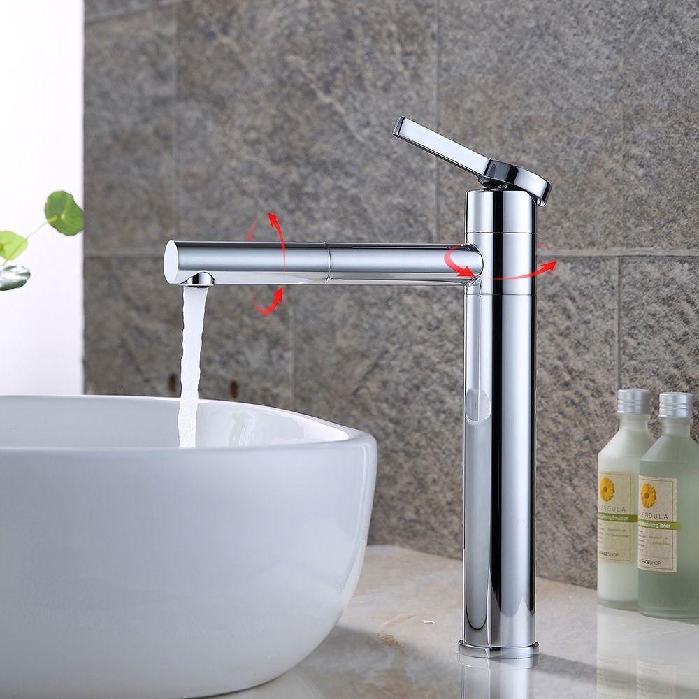 Badarmatur Hoch Wasserhahn Waschtisch Armatur Messing