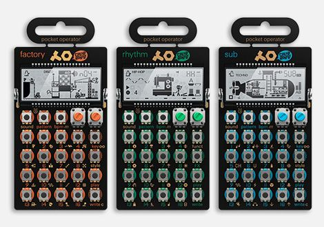 the pocket operators by teenage engineering and cheap mondays is a set of 3 synthesizers each. Black Bedroom Furniture Sets. Home Design Ideas
