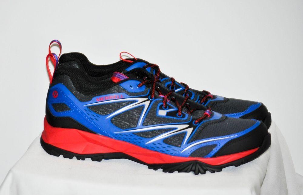 Men Merrell Capra Bolt Trail Hiking Shoe Blue Red Black J35391 size 11 D NEW