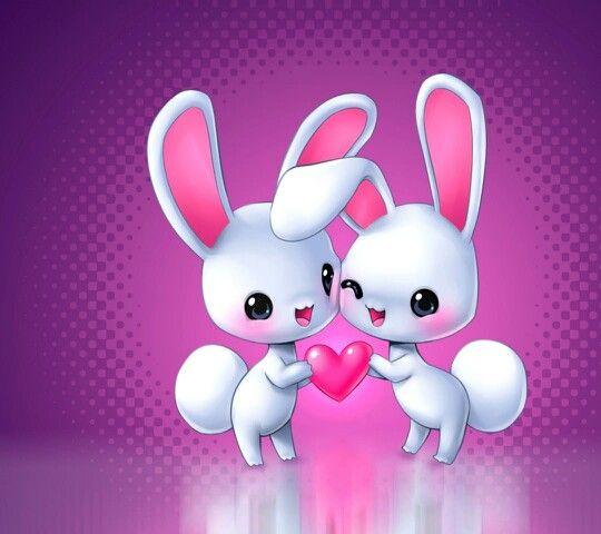 Bunnies Love Wallpaper Download Hd Cute Wallpapers Cute Wallpapers