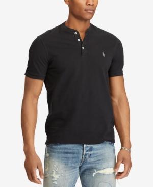 16b193eb5 Polo Ralph Lauren Men's Featherweight Mesh Henley Shirt - Black XL ...