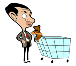 Mr Bean By Good Catch Ltd Sticker 15000499 In 2021 Mr Bean Cartoon Mr Bean Teddy Bear Cartoon