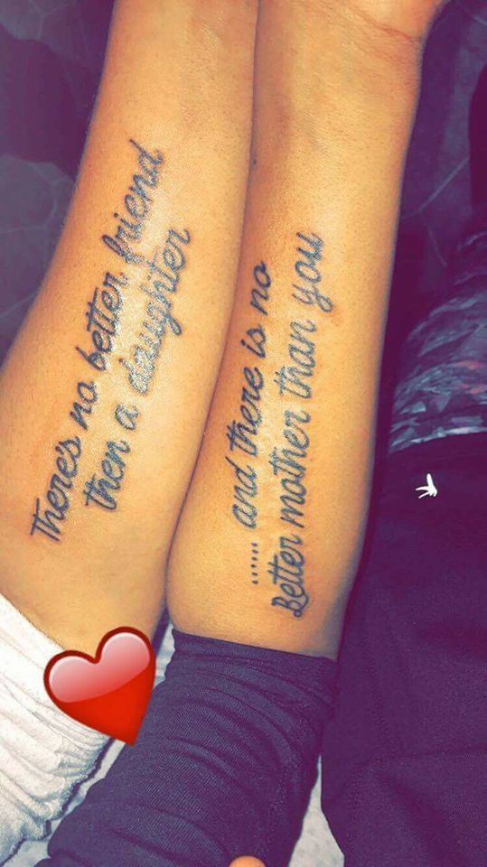 Tattoo quotes mother daughter