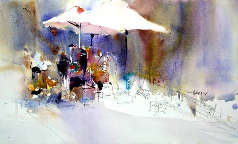 Spadina Summer Market Demo By Harry Arifine Watercolor Art