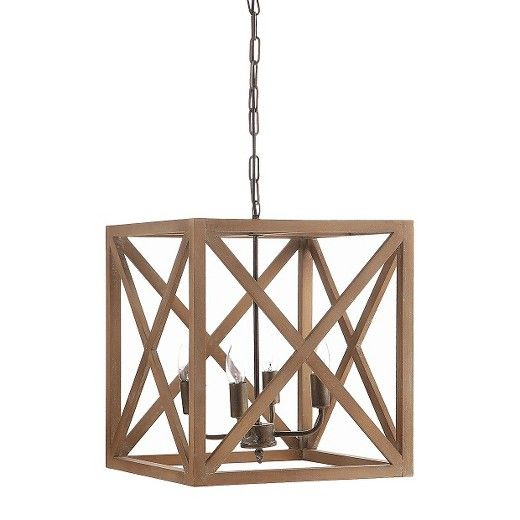 Mix Vintage And Modern With The Metal Wood Chandelier In Natural