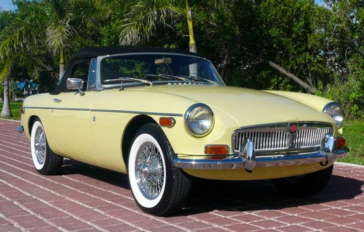 Primrose Yellow And White Wall Tires Those Are A Must At Some Point Mgb Classic Sports Cars British Cars Classic Cars