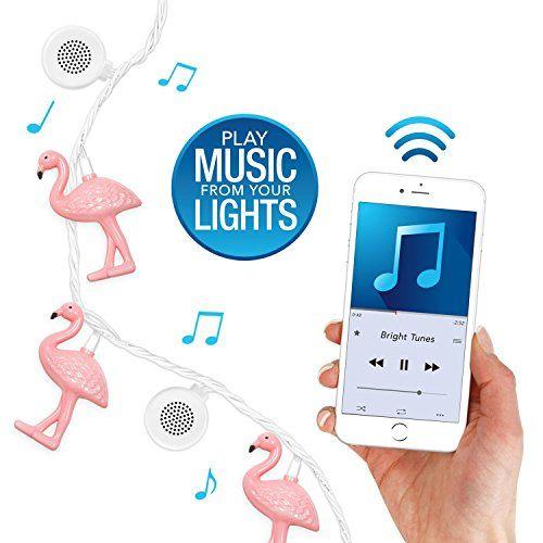 Bluetooth Speaker String Lights Bright Tunes Decorative Flamingo String Lights With Bluetooth