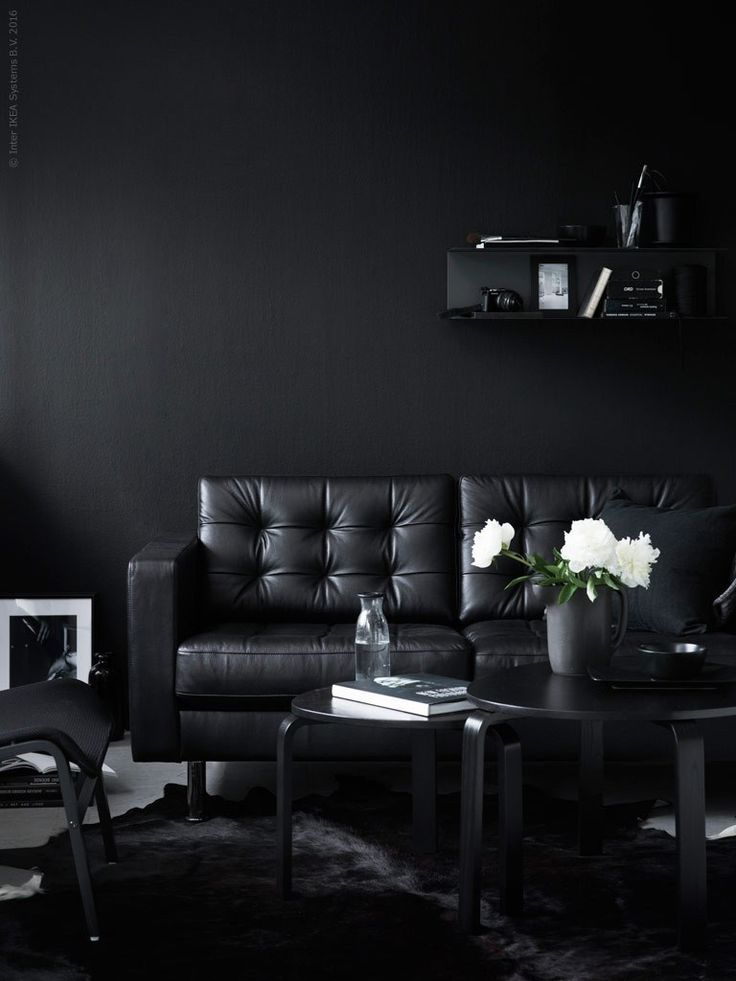 All Black Living Room Pella Hedeby For Ikea 2016 Black Living Room Decor Black Living Room All Black Living Room