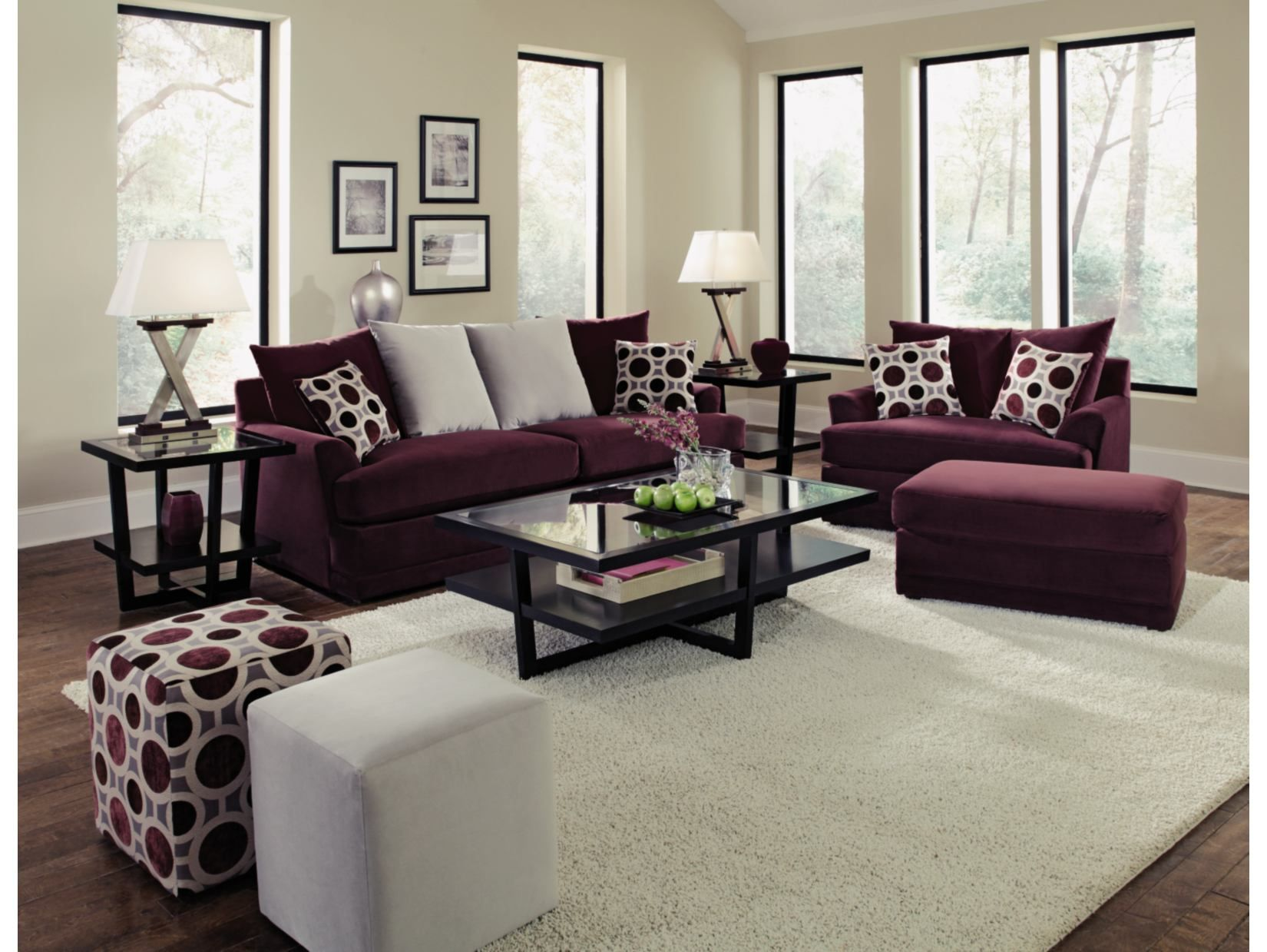 today classic nailhead shipping overstock chesterfield plum garden home free loveseat product