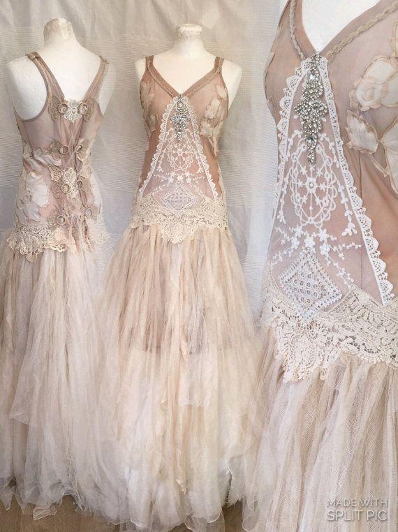 Wedding dress rose goddess,ethereal wedding dress,bridal gown dusty ...