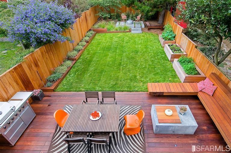 Liked The Built In Planters And Vegetable Boxes, The Deck, The Built In