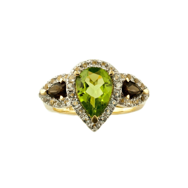 Peridot Pear Shaped Ring - Sam's Club | Pear shaped ring ...