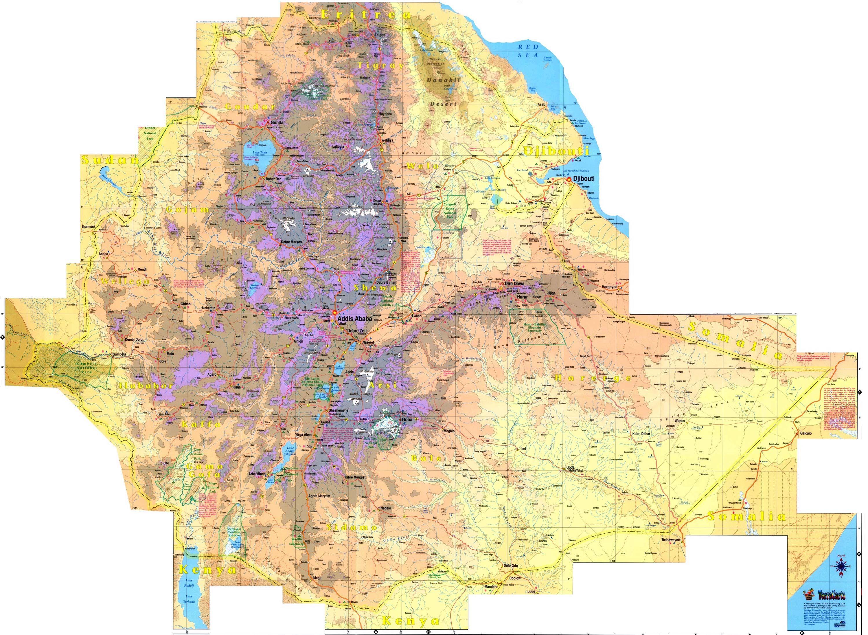Where is ethiopia in africa ethiopia elevation map ethiopia where is ethiopia in africa ethiopia elevation map ethiopia mappery gumiabroncs Images