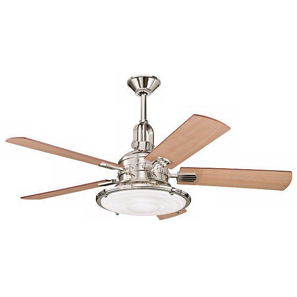 "Kichler Kittery Point Ceiling Fan - 52"" Polished Nickel - #EUN0811 - Euro Style Lighting"