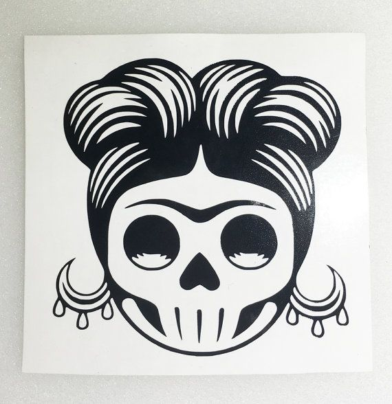 Items similar to rockabilly sugar skull frida decal yeti tumbler car on etsy