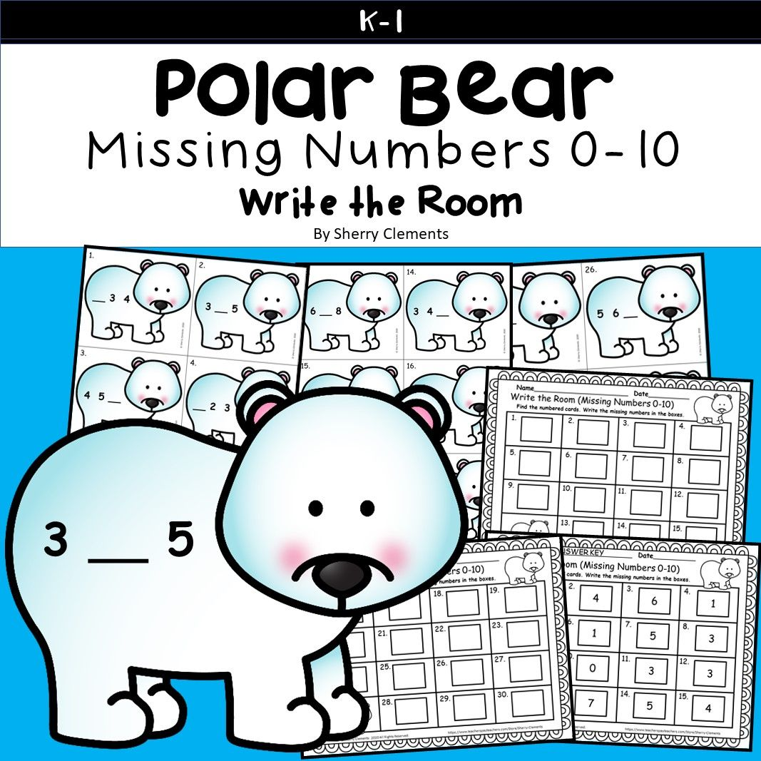 Polar Bear Missing Numbers 0 10 Polar Bears Kindergarten Polar Polar Bear [ 1067 x 1067 Pixel ]