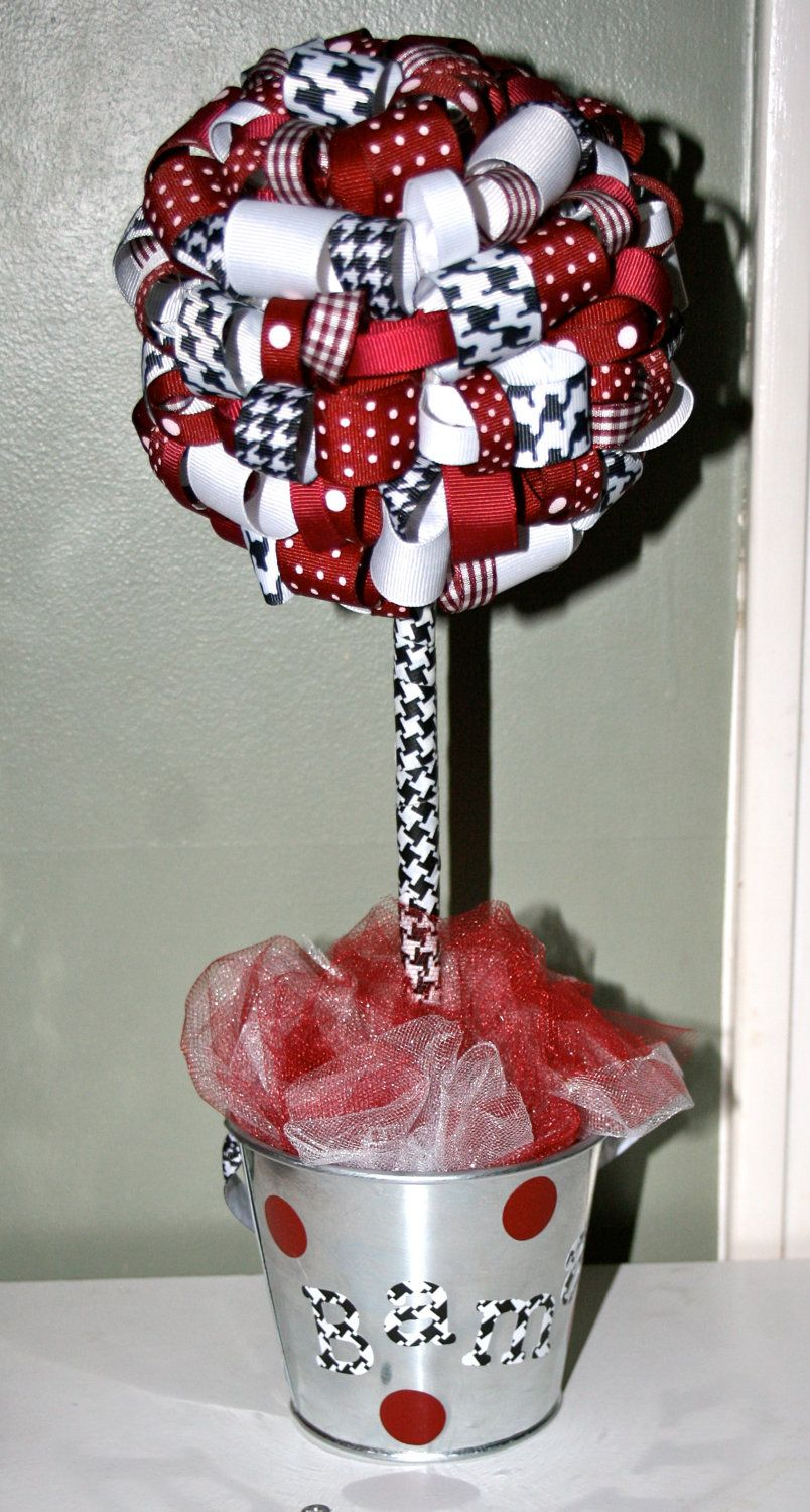 University of Alabama Ribbon Topiary. $25.00, via Etsy.
