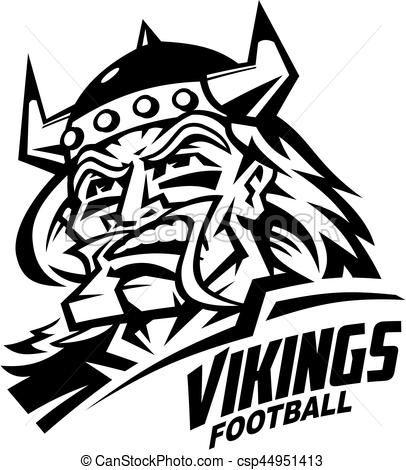 Vector - vikings football - stock illustration, royalty free ...