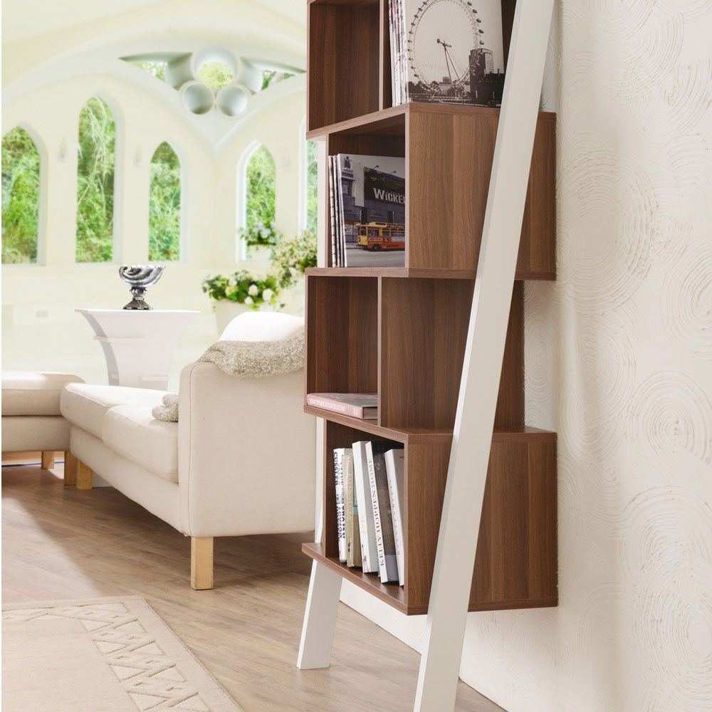 Leaning bookcase contemporry ideas my midcentury modern office