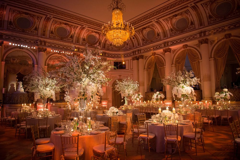 The room shot at the Plaza Hotel Manhattan wedding
