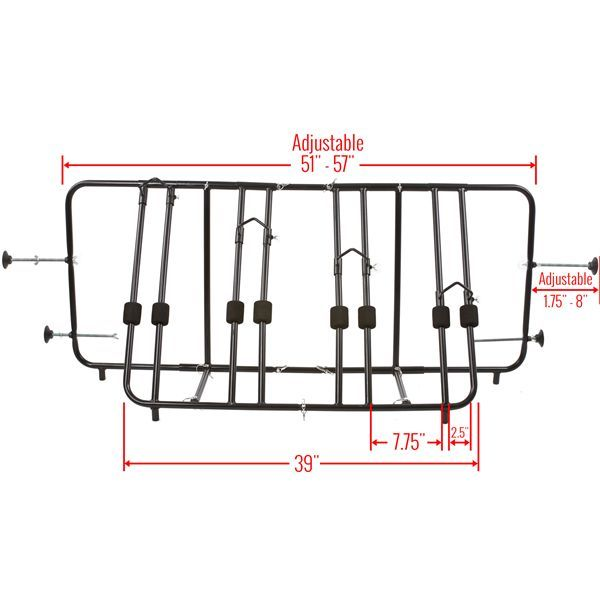apex truck bed bike rack