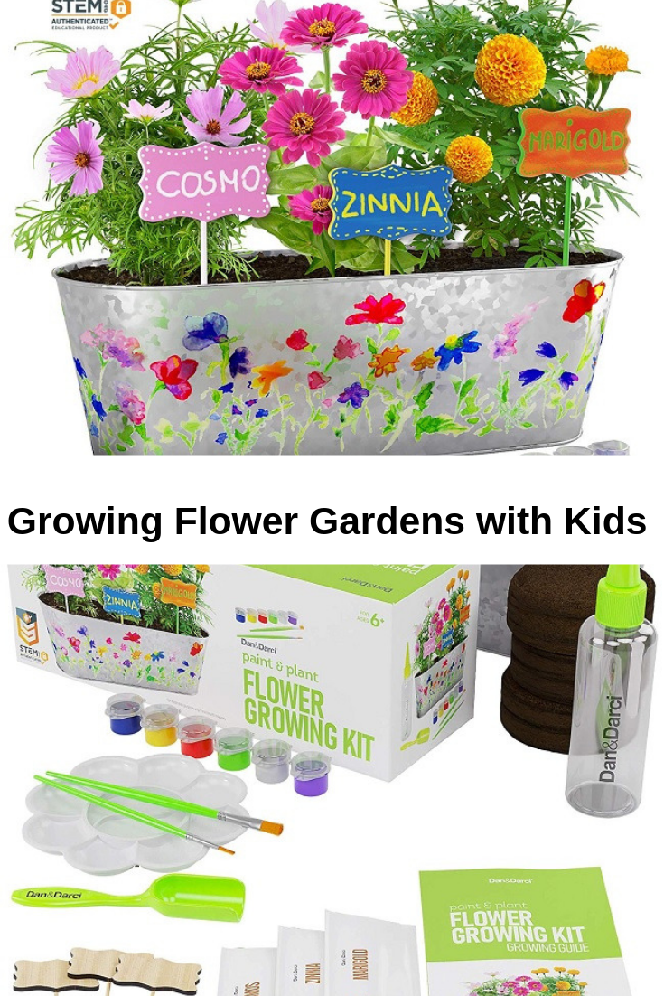 Teaching Kids To Grow A Flower Garden With Everything They Need Flower Garden Planting Flowers Gardening For Kids
