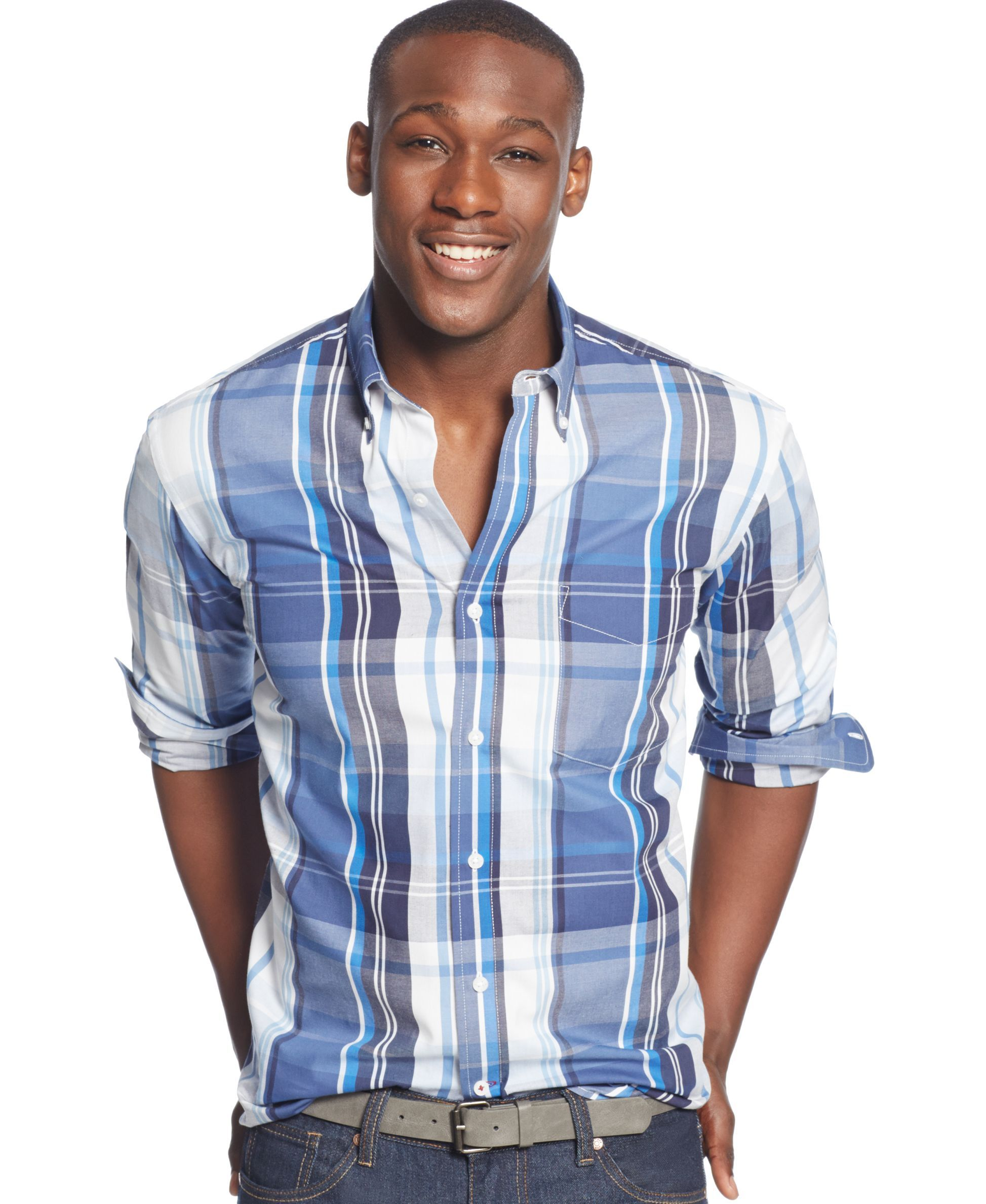Club Room Long-Sleeve Plaid Shirt