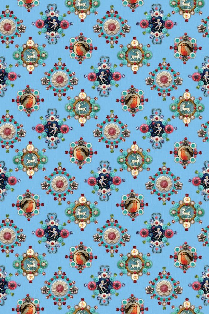 4ff5f03052a Pip Studio, Blauw Behangpapier, Designers Guild, Achtergrond Patronen,  Patroon Behang, Patroonpapier