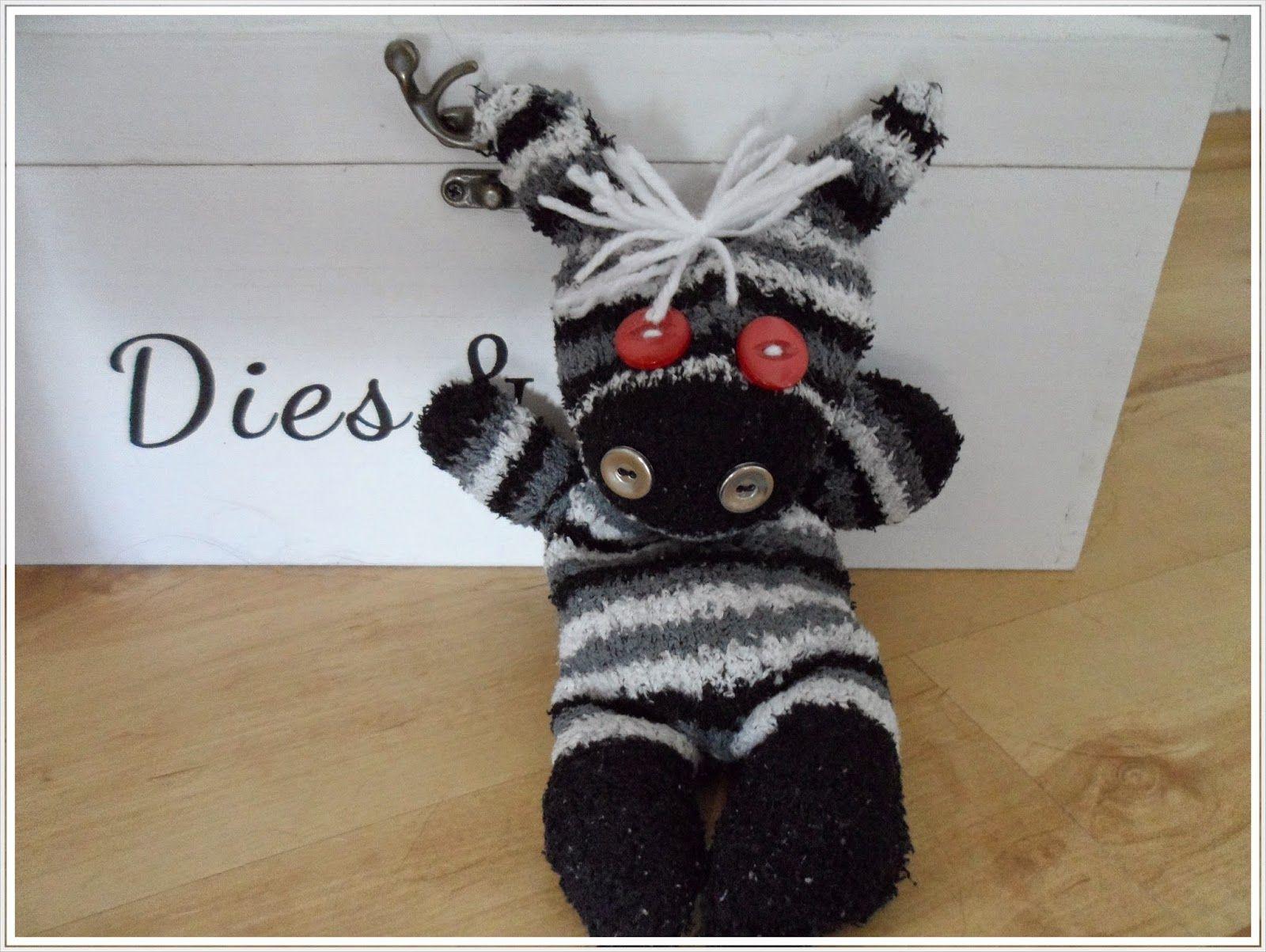 Sockentiere / Zebra, mit Anleitung   maryskreativblog.blogspot.de ...