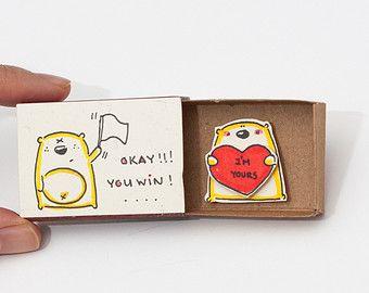 Niedliche Liebeskarte / Hochzeitstag / Tiny Lovecard von shop3xu