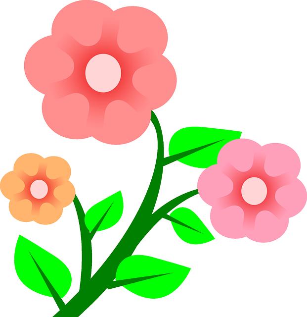 Three plants flower flowers cartoon border pink rs book in 2018 three plants flower flowers cartoon border pink mightylinksfo