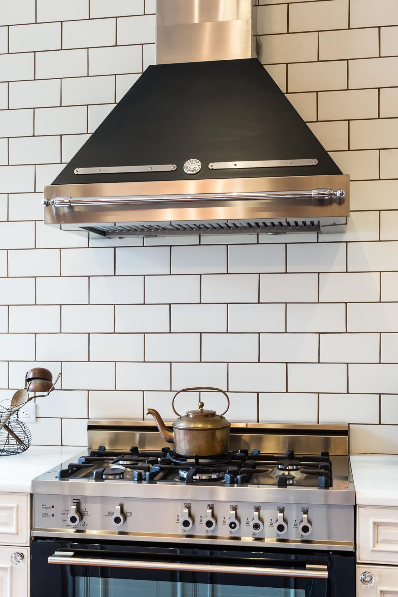 Splendid white kitchen backsplash with gray grout photos hgtv