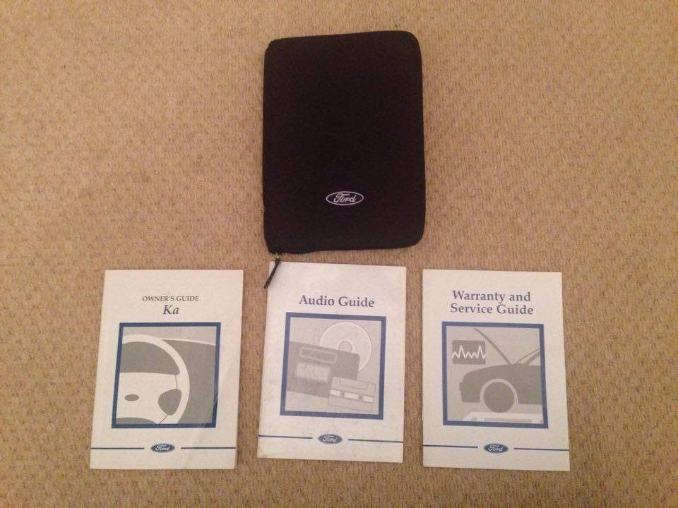 Ford Ka Owners Manual Audio Manual Service Guide Wallet
