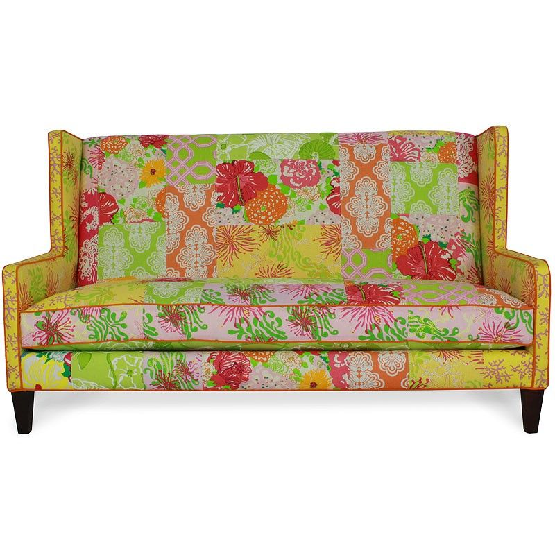 LILLY PULITZER PATCHWORK SETTEE SOFA