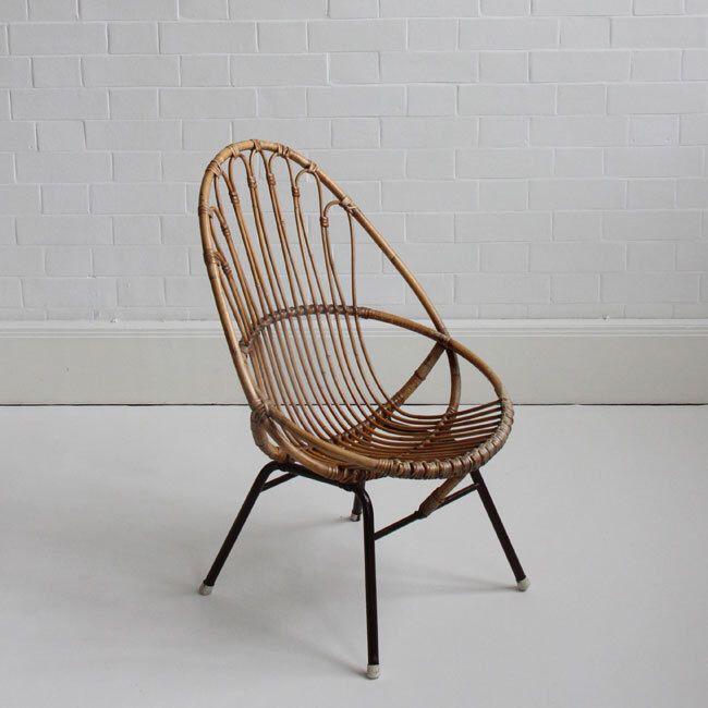 Rattan Chair Vintage rattan furniture, Vintage wicker