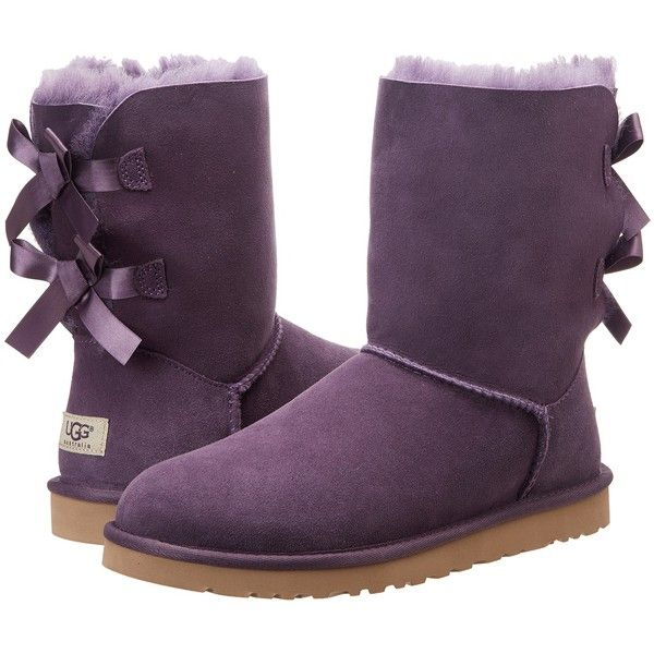 7a3422ea148 UGG Bailey Bow (Purple Velvet) Women's Boots ($49) ❤ liked on ...