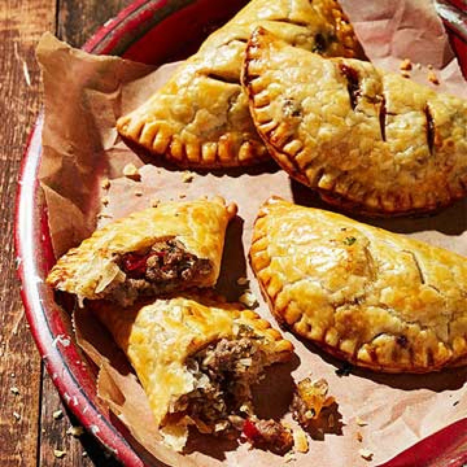jamaican beef patties with chutney and cheese with images