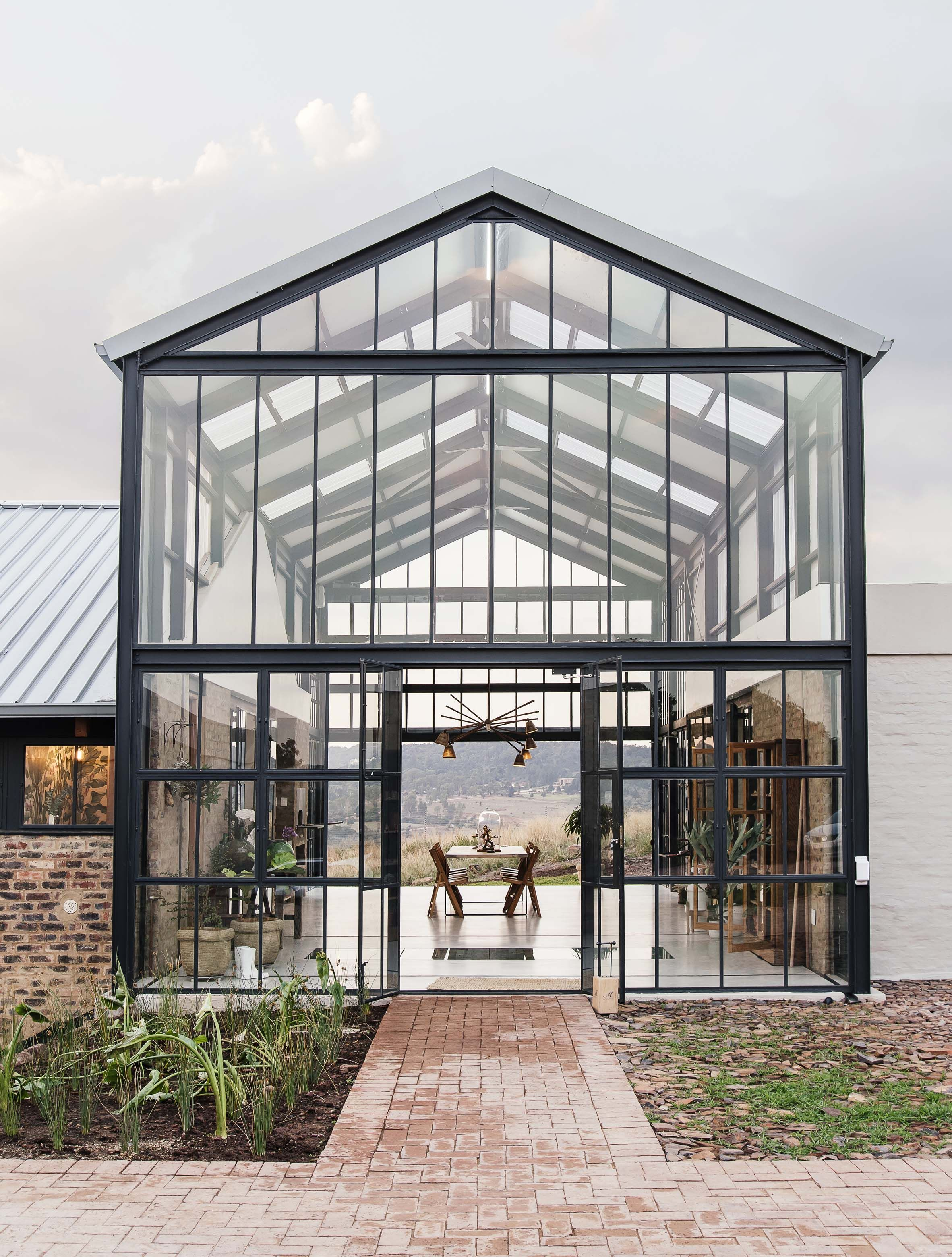 a3bead5ecae Barn-inspired Conservatory House is an off-grid escape on a Pretoria farm.