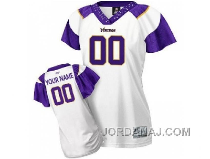 Customized Minnesota Vikings Jersey Women Field Flirt Fashion Football df209fbfc