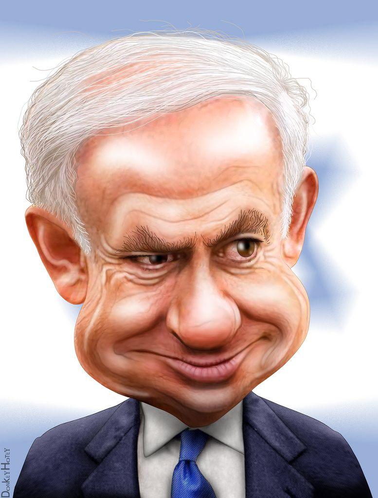 Benjamin Netanyahu Caricature Caricature Celebrity Caricatures Political Caricature