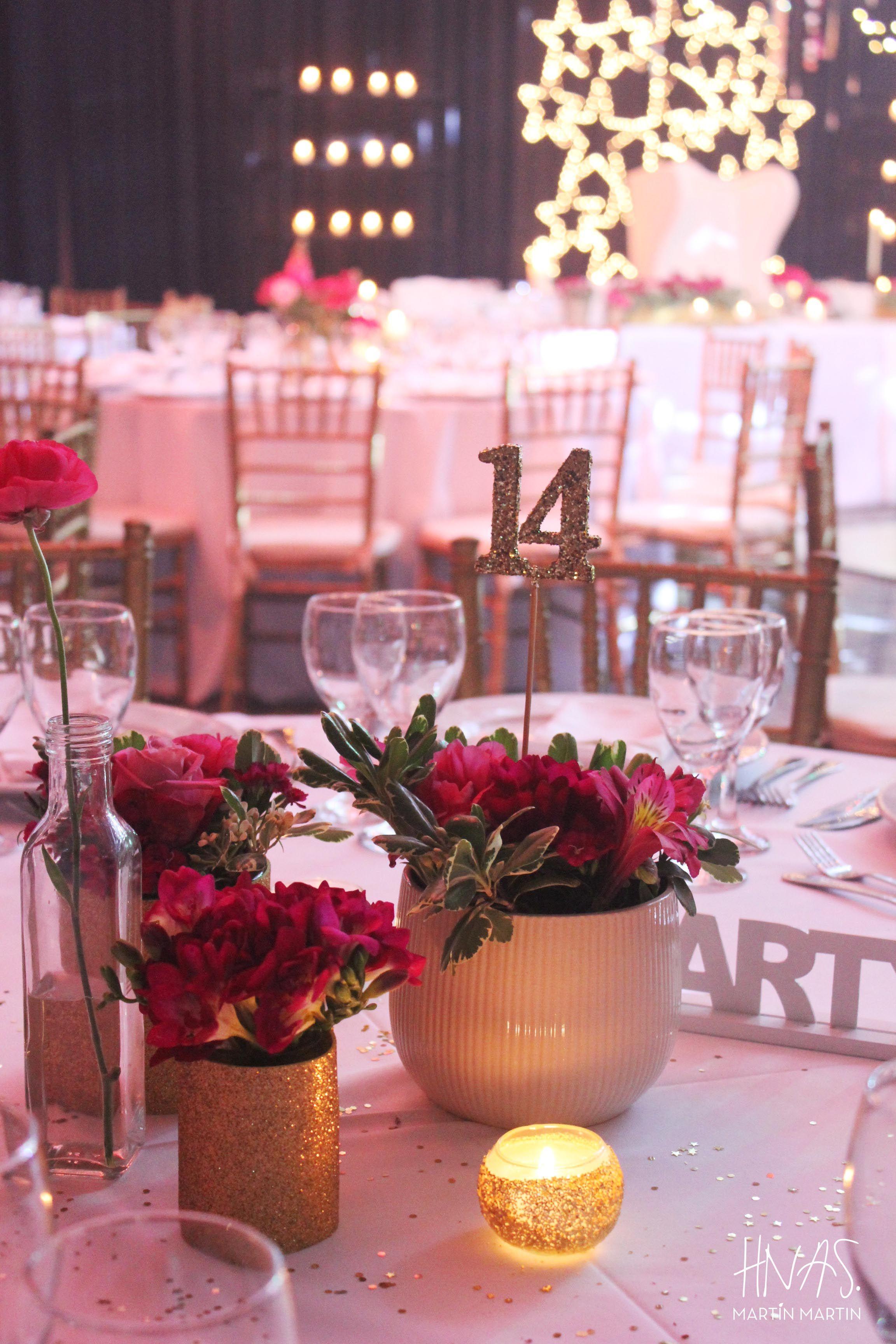 Cumplea os de 15 sweet fifteen fiesta de quince party for Decoracion para mesas de centro