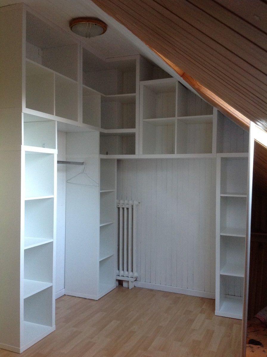 Bureau et non dans un dressing/penderie (ce sera l'objet de mon prochain post diy ). Kallax Corner Wardrobe For My Bedroom Ikea Hackers Attic Wardrobe Corner Wardrobe Attic Rooms
